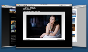 Create a professional, stylish photography or artist website quickly and easily